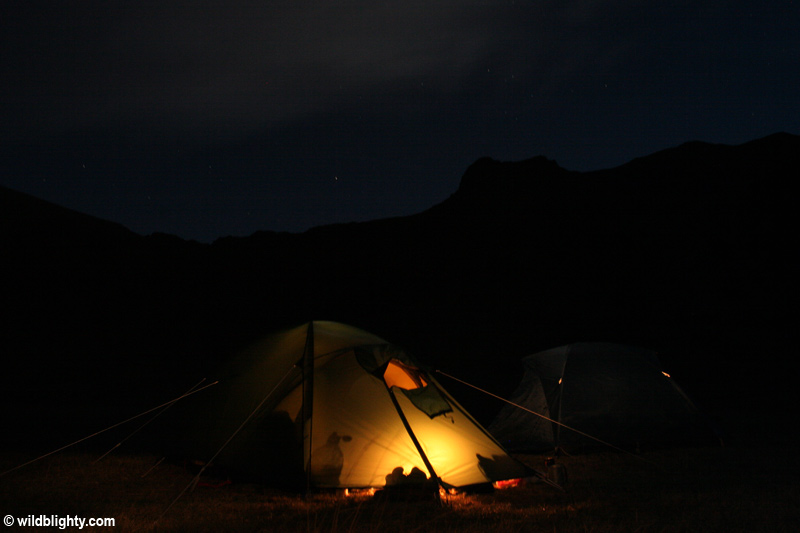 Wild Camping at Llyn Idwal in North Wales