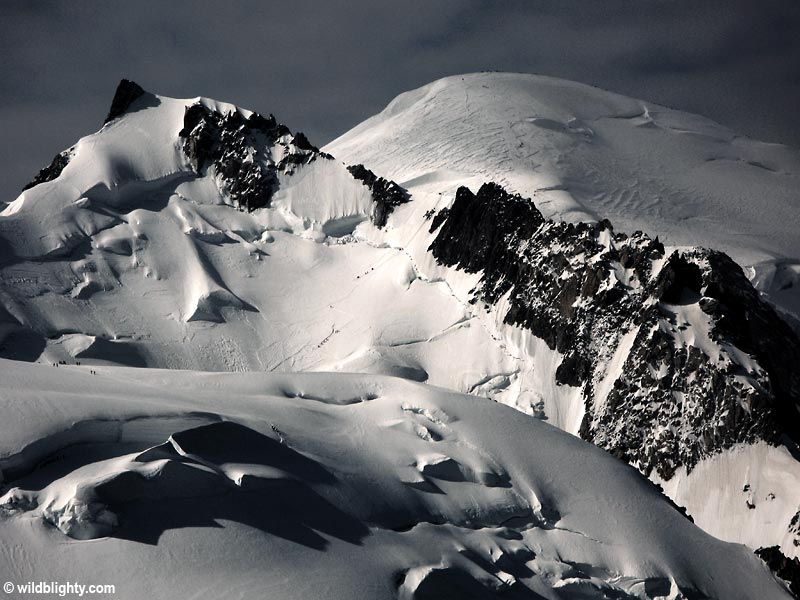 Mont Blanc viewed from Aigulle du Midi.