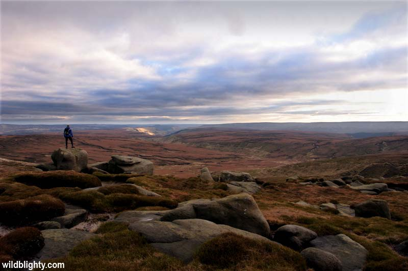 View from Eccles Pike, Peak District.