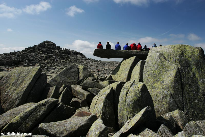 View of the Cantilever Stone on Glyder Fach