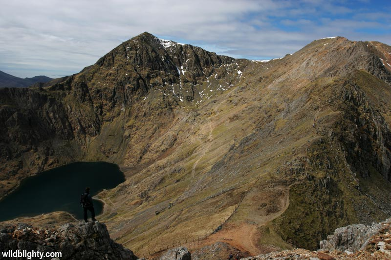 View of the summit of Snowdon
