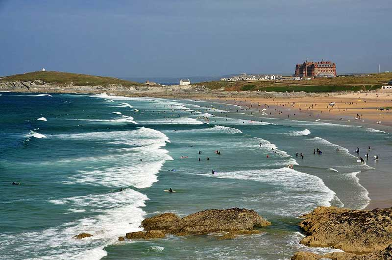 The notorious surf at Fistral beach, Newquay