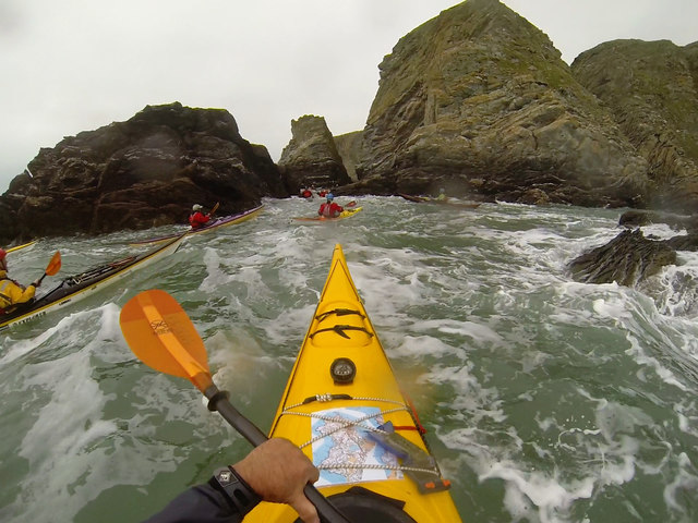 Sea Kayaking amongst the coastal cliffs of Anglesey