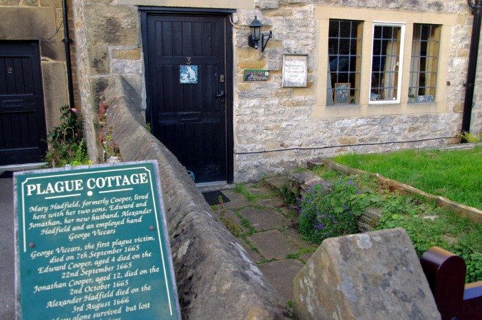 Plague Cottage in the village of Eyam