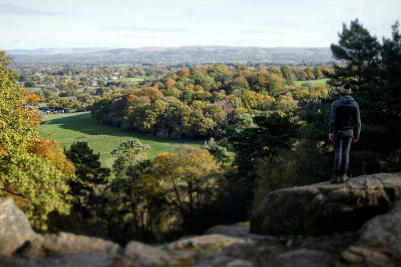 Viewpoint at Alderley Edge in Cheshire