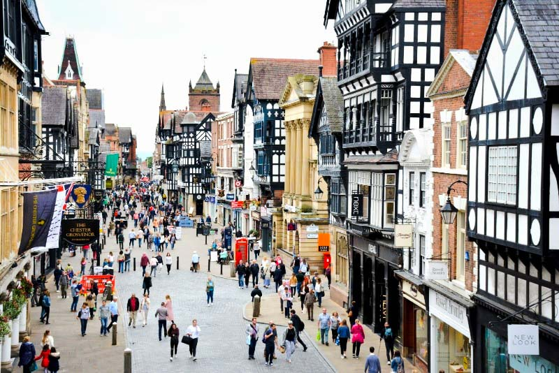 View of Eastgate Street in Chester