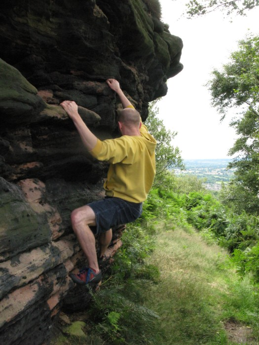 Traversing at Helsby Hill in Cheshire