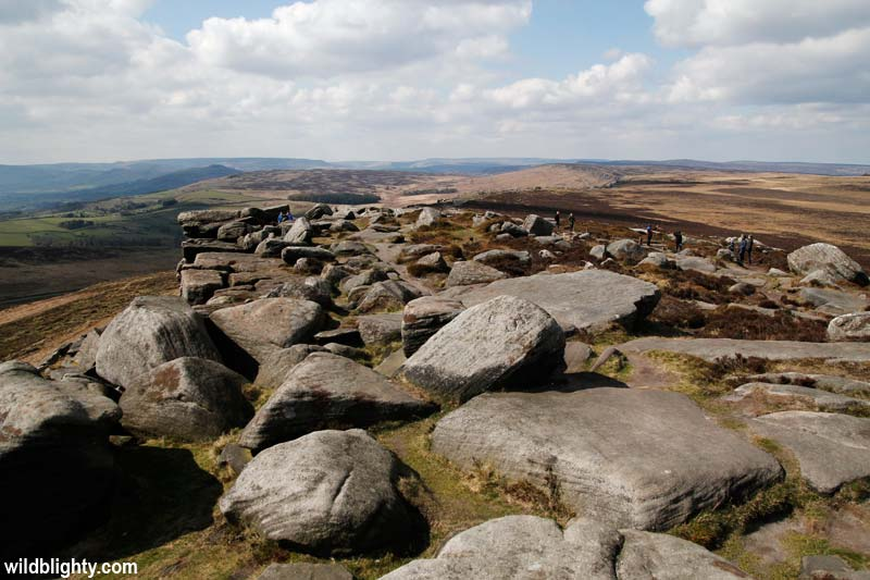The Stanage Edge summit path.