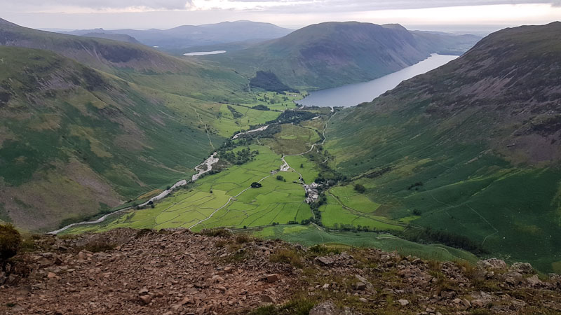 Wasdale Head and Wastwater viewed from Kirkfell
