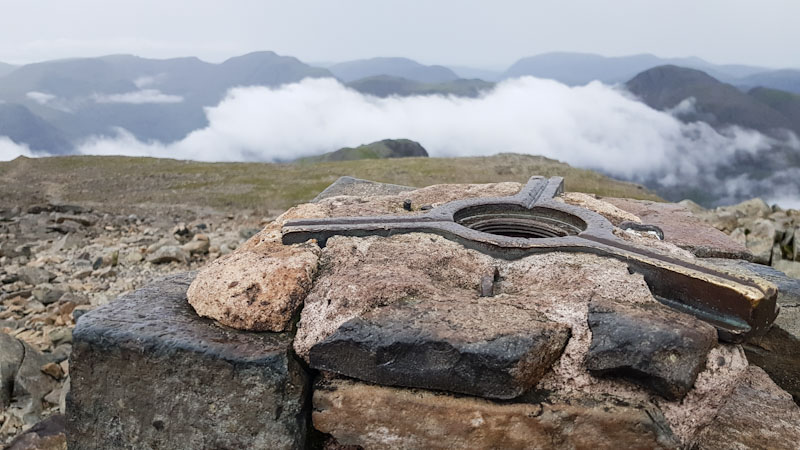 summit cairn on scafell pike
