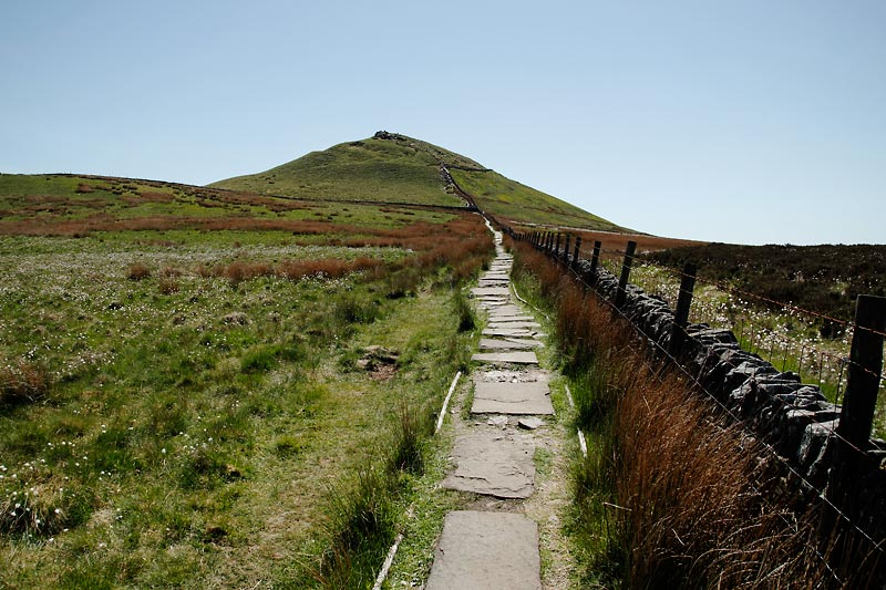 Stone path leading to Shutlingsloe