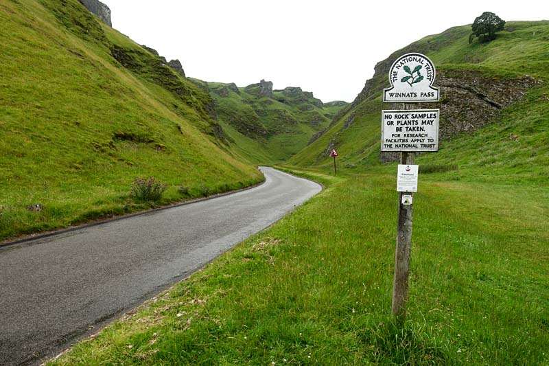 Looking up Winnats Pass
