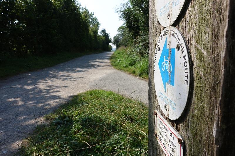 Carsington Water Circular Cycle Route Sign
