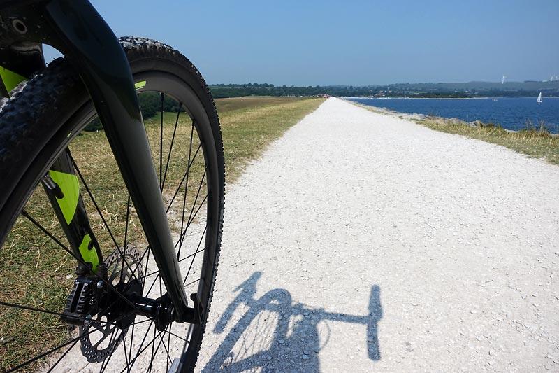 Bike and cycle path at Carsington Water