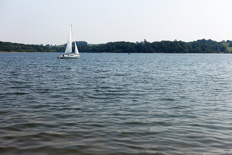 A small sailing vessel on Carsington Water