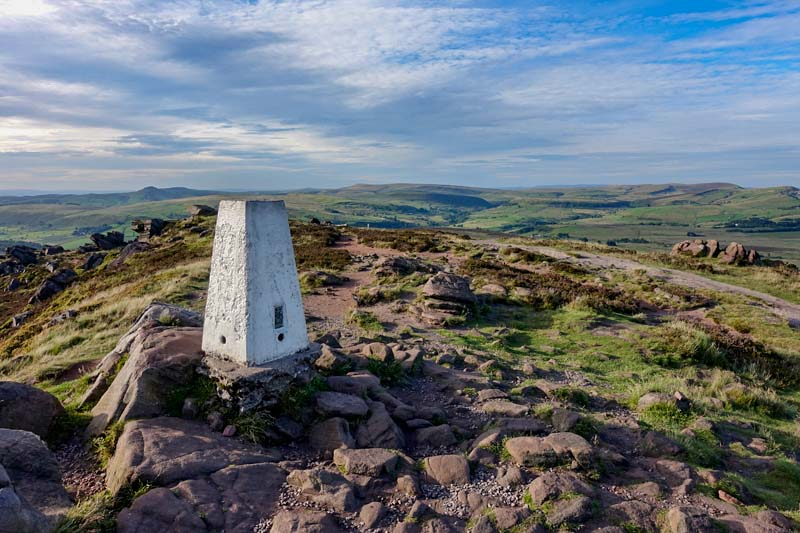 View of the summit trig point on The Roaches.