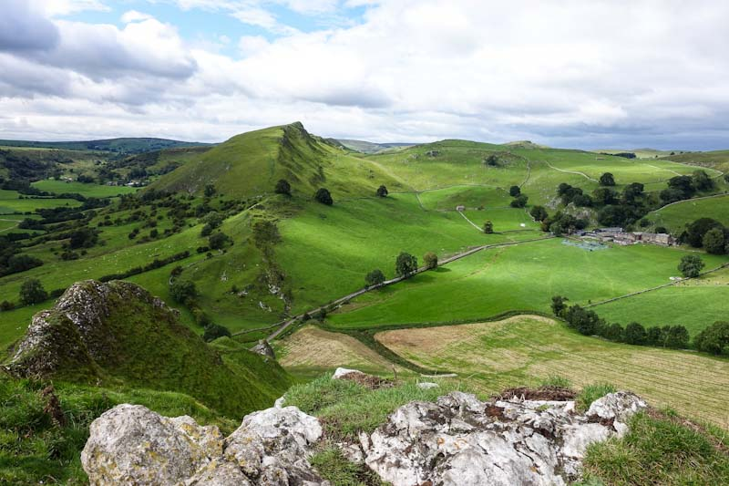 Elevated view of Chrome Hill from Parkhouse Hill